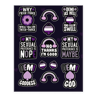 Asexual and Demisexual Sticker