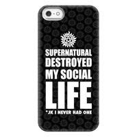 Supernatural Destroyed My Life Phonecase