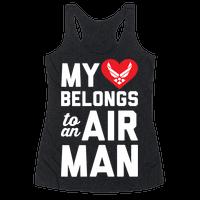 My Heart Belongs To An Airman Racerback