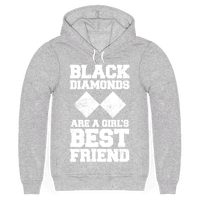 Black Diamonds Are A Girl's Best Friend (White Ink) Hoodie