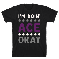 I'm Doin' Ace Okay White Print