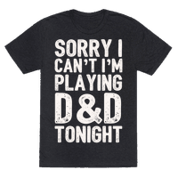 Sorry I Can't I'm Playing D&D Tonight