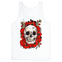 Skull on a Bed of Poppies Tank