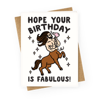 Hope Your Birthday Is Fabulous Greetingcard