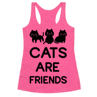 Cats are Friends Racerback