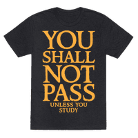 You Shall Not Pass (Unless You Study) Tee