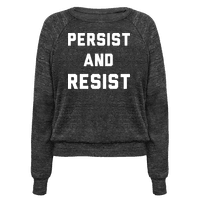 Persist and Resist White Print