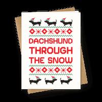 Dachshund Through The Snow Greetingcard