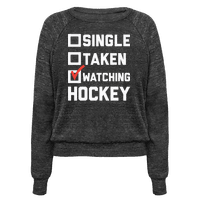 Single Taken Watching Hockey Pullover