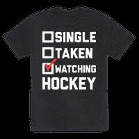 Single Taken Watching Hockey