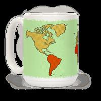 Wanderlust World Map Mug