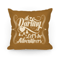 Oh Darling, Let's Be Adventurers Pillow (Yellow Ochre)