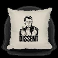 Ruth Bader Ginsburg Dissent Pillow