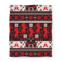 Hogwarts Ugly Christmas Sweater Pattern: Gryffindor