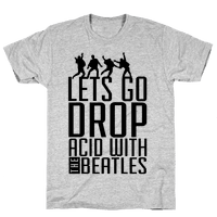 Trippy Cartoon Beatles