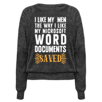 I Like My Men The Way I Like My Microsoft Word Documents: SAVED