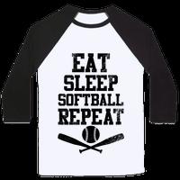 Eat Sleep Softball Repeat (Vintage)