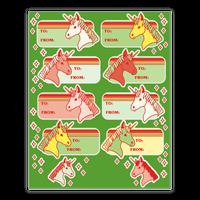 Unicorn Christmas Gift Tag