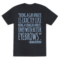 Gay Athletes Have Better Eyebrows Adam Rippon Quote White Print