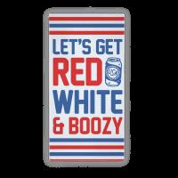 Red White & Boozy Beach Towel Towel