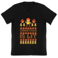 Christmas Is Lit Heat Miser Hooded Sweatshirts | LookHUMAN