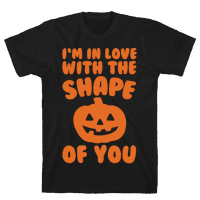 I'm In Love With The Shape Of You Pumpkin Parody White Print
