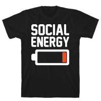 Social Energy Low White Print