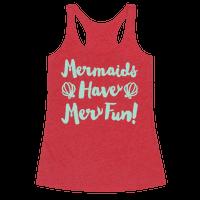 Mermaids Have Mer Fun White Print