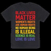 Black Lives Matter List Tee