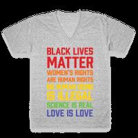 Black Lives Matter List Vneck