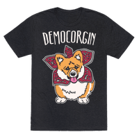 Democorgin Parody White Print Tee