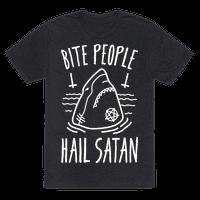 Bite People Hail Satan - Shark (White)