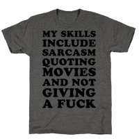 Sarcasm Quoting Movies and Not Giving a Fuck Tee