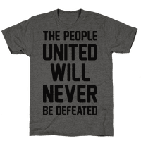 The People United Will Never Be Defeated Tee