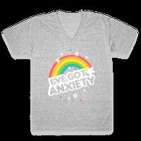 I've Got Anxiety Rainbow Vneck