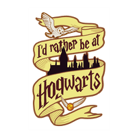 I'd Rather Be At Hogwarts Wall-decal