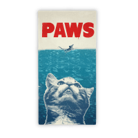 PAWS (Jaws Parody Beach Towel)