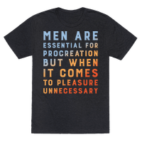 Men Aren't Necessary Quote White Print