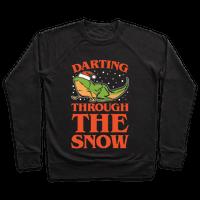 Darting Through The Snow Parody White Print