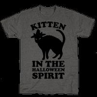 Kitten In The Halloween Spirit Tee