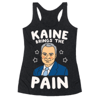 Kaine Brings The Pain White Print Racerback