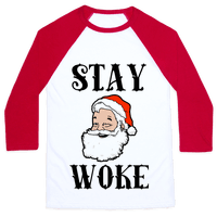 Stay Woke Santa Baseball