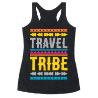 Travel Tribe White Print