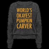 World's Okayest Pumpkin Carver Orange Pullover