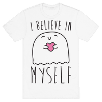 I Believe In Myself Ghost White Print Tee