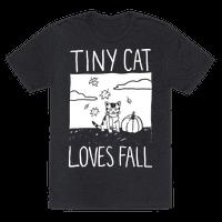 Tiny Cat Loves Fall Tee