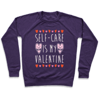 Self-Care Is My Valentine White Print