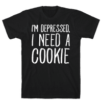 I'm Depressed I Need A Cookie White Print