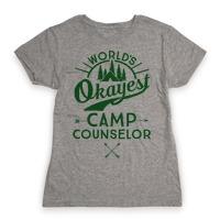 e9d09a7e92b World s Okayest Camp Counselor T-Shirt