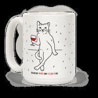 Drinking Wine And Feline Fine